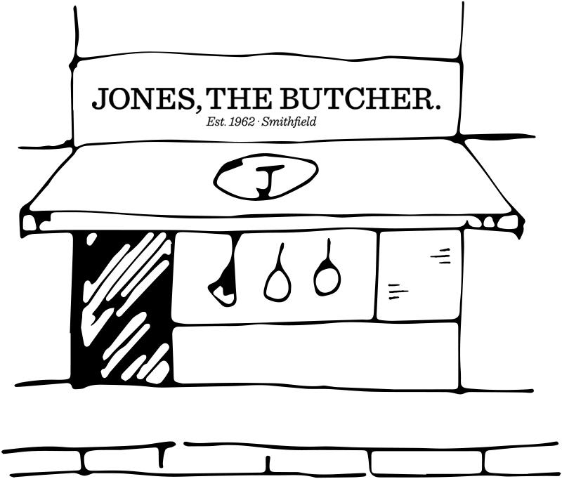 Jones, The Butcher shop graphic